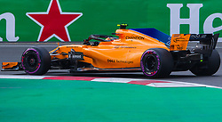 April 28, 2018 - Baku, Azerbaijan - Stoffel Vandoorne of Belgium and McLaren F1 Team driver goes during the qualifying session at Azerbaijan Formula 1 Grand Prix on Apr 28, 2018 in Baku, Azerbaijan. (Credit Image: © Robert Szaniszlo/NurPhoto via ZUMA Press)
