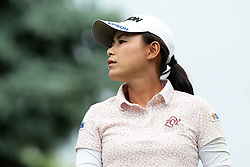 June 16, 2018 - Belmont, Michigan, United States - Sakura Yokomine of Japan tees off on the third tee during the third round of the Meijer LPGA Classic golf tournament at Blythefield Country Club in Belmont, MI, USA  Saturday, June 16, 2018. (Credit Image: © Jorge Lemus/NurPhoto via ZUMA Press)