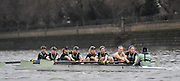 2017 Boat Race Trials<br /> <br /> Womens Trial VIII's for 72nd Women's University Boat Race, sponsored by Newton, held on the Championship Course from Putney to Mortlake, Monday 12 December 2016.<br /> <br /> CUWBC Trial VIII's between NEEDS on Surrey in the Yellow Boat and HALLAM on Middlesex in the White Boat<br /> <br /> HALLAM, Bow, Brittany Preston, 2, Fanny Belais, 3, Ashton Brown, 4, Kirsten van Fossen, 5, Lucy Pike, 6, Melissa Wilson, 7, Holly Hill, Stroke, Alice White, Cox, Matthew Holland.<br /> <br /> NEEDS Bow, Tricia Smith, 2, Emma Andrews, 3, Paula Wulff, 4, Oonagh Cousins, 5, Claire Lamb, 6, Anna Dawson, 7, Myriam Goudet, Stroke, Imogen Grant, Cox, Evie Lindsay.