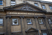 Royal Mineral Water Hospital frontage, Bath, Somerset, England.