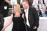 Actress Inge Maux, Director Ulrich Seidl at the photocall for the film Paradies : Liebe at the 65th Cannes Film Festival. Friday 18th May 2012 in Cannes Film Festival, France.