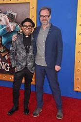 JoJo Villanueva; Joby Talbot bei der Premiere von Sing in Los Angeles / 031216