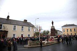 A Remembrance Sunday service at the Cenotaph in Enniskillen, held in tribute for members of the armed forces who have died in major conflicts.