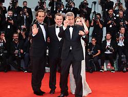 September 2, 2017 - Venice, Italy - Alexandre Desplat, Julianne Moore, Matt Damon and George Clooney walks the red carpet ahead of the 'Suburbicon' screening during the 74th Venice Film Festival  in Venice, Italy, on September 2, 2017. (Credit Image: © Matteo Chinellato/NurPhoto via ZUMA Press)