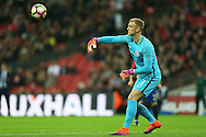 Goalkeeper Joe Hart of England in action. England v Spain, Football international friendly at Wembley Stadium in London on Tuesday 15th November 2016.<br /> pic by John Patrick Fletcher, Andrew Orchard sports photography.
