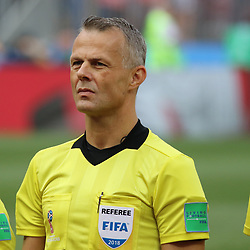 July 1, 2018 - Moscow, Russia - July 01, 2018, Russia, Moscow, FIFA World Cup 2018, the playoff round. Football match Spain - Russia at the stadium Luzhniki. Bjorn Kuipers; arbitrator; judge; referee. (Credit Image: © Russian Look via ZUMA Wire)