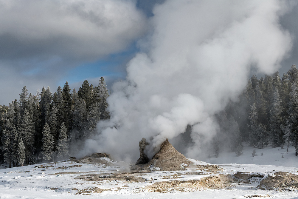 Giant Geyser on a winter morning.