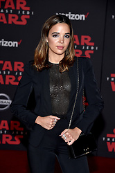 Georgie Flores attends the world premiere of Disney Pictures and Lucasfilm's 'Star Wars: The Last Jedi' at The Shrine Auditorium on December 9, 2017 in Los Angeles, CA, USA. Photo by Lionel Hahn/ABACAPRESS.COM