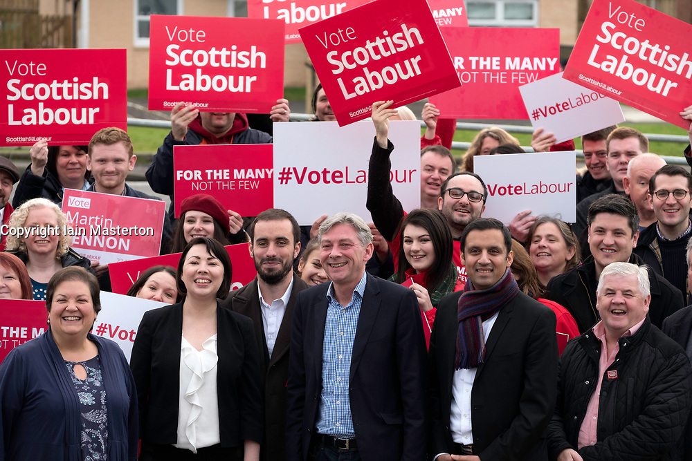 Richard Leonard celebrated with party activists and MSPs after winning Scottish Labour Party Leadership contest,