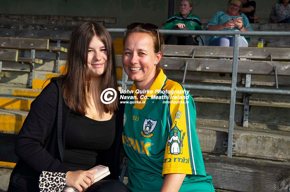 01-07-21. Meath v Westmeath - Leinster MHC at TEG Cusack Park, Mullingar.<br />Deirdre (Left) and Bronagh Gaughan from Dunaghmore/Ashbourne were in Cusack Park supporting the Meath minor hurlers.<br />Photo: John Quirke / www.quirke.ie<br />©John Quirke Photography, 16 Proudstown Road, Navan. Co. Meath. (info@quirke.ie / 046-9028461 / 087-2579454).
