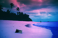 Abandoned laptop computer. Shot in infrared film in Tonga.