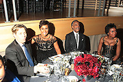 November 3, 2012- New York, NY: (L-R) Guest, Desiree Rogers, CEO, Johnson Publishing Company, Civil Rights Activist/On-Air Personality Rev. Dr. Al Sharpton (Honoree) and Mellody Hobson, President, Ariel Investments (Honoree) at the EBONY Power 100 Gala Presented by Nationwide held at Jazz at Lincoln Center on November 3, 2012 in New York City. The EBONY Power 100 Gala Presented by Nationwide salutes the country's most influential African Americans.(Terrence Jennings) .