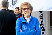 Kick-off De Hollandse 100 2020 op de Jaap Edenbaan voor de zesde editie van De Hollandse 100, die dit jaar op 15 maart in Thialf wordt gehouden. Het evenement heeft als doel de financiering van wetenschappelijk onderzoek naar de aard en behandeling van lymfklierkanker te steunen. <br /> <br /> Op de foto: