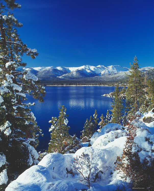 Lake Tahoe Landscape Winter Shoreline Lake Tahoe