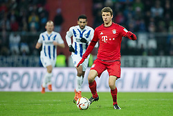 16.01.2016, Wildparkstadion, Karlsruhe, GER, Testspiel, Karlsruher SC vs FC Bayern Muenchen, im Bild Thomas Mueller (FC Bayern Muenchen) mit Ball // during a preperation Football Match between Karlsruher SC and FC Bayern Munich at the Wildparkstadion in Karlsruhe, Germany on 2016/01/16. EXPA Pictures © 2016, PhotoCredit: EXPA/ Eibner-Pressefoto/ Neis<br /> <br /> *****ATTENTION - OUT of GER*****