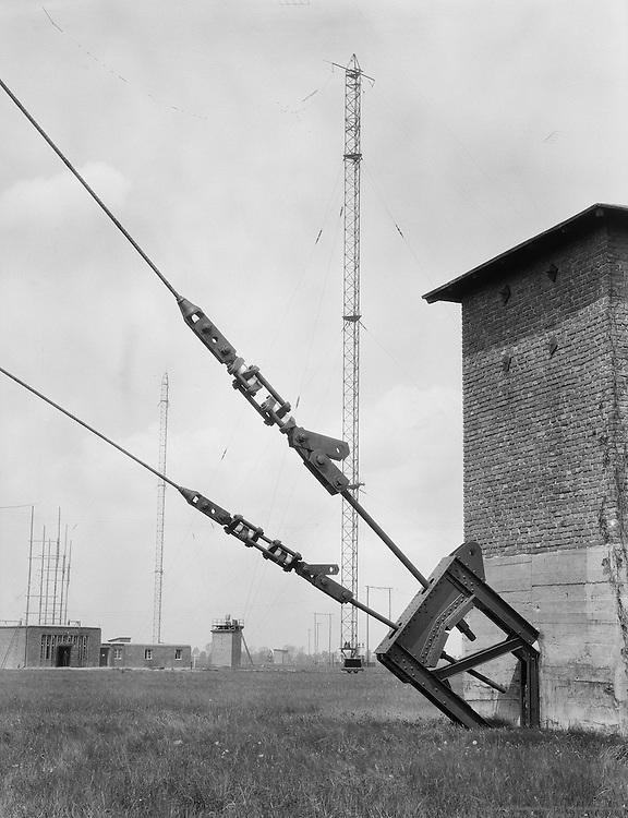 Tension Cables for antenna mast, radio Station, nauen, Brandenburg, 1928