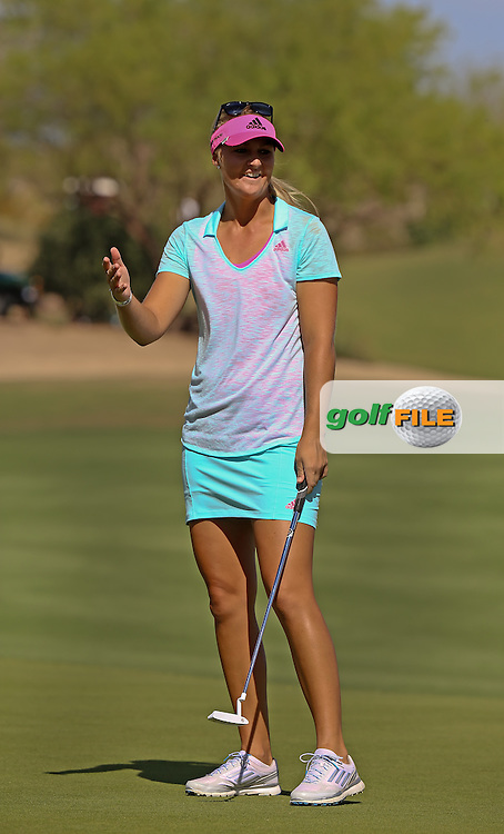 22 MAR15  Anna Nordqvist during Sunday's Final Round of the JTBC Founder's Cup at The Wildfire Golf Club in Scottsdale, Arizona. (photo credit : kenneth e. dennis/kendennisphoto.com)