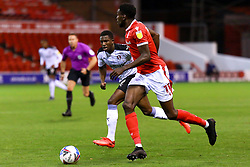 Sammy Ameobi of Nottingham Forest looks for options under pressure from Wes Harding of Rotherham United - Mandatory by-line: Ryan Crockett/JMP - 20/10/2020 - FOOTBALL - The City Ground - Nottingham, England - Nottingham Forest v Rotherham United - Sky Bet Championship