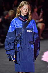 Model walks on the runway during the Fenty X Puma Rihanna Fashion show at New York Fashion Week Spring Summer 2018 held in New York, NY on September 10, 2017. (Photo by Jonas Gustavsson/Sipa USA)