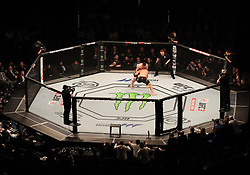 A general view of Paul Craig in action against Magomed Ankalaev at The O2 Arena, London.