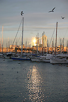 Harbour area in Barcelona, Spain<br />