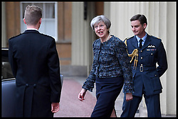May 3, 2017 - London, London, United Kingdom - Image ©Licensed to i-Images Picture Agency. 03/05/2017. London, United Kingdom. Theresa May arriving at Buckingham Palace. Buckingham Palace. .Prime Minister Theresa May leaving Buckingham Palace, London, after an audience with Queen Elizabeth II to mark the dissolution of Parliament for the General Election.Picture by  i-Images / Pool (Credit Image: © i-Images via ZUMA Press)