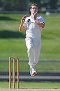 Canterbury's Will Williams bowls in the Plunket Shield Cricket match, Central Districts v Canterbury, McLean Park, Napier, Tuesday, April 06, 2021. Copyright photo: Kerry Marshall / www.photosport.nz