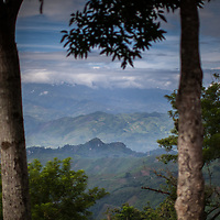 The spectacular view of the mountains of Alta Verapaz from Concepciónn Actelá.