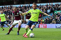Aston Villa v Derby County - Sky Bet Championship<br /> BIRMINGHAM, ENGLAND - APRIL 28 :  Alex Pearce, of Derby County, gets on the ball at Villa park