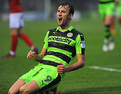 Christian Doidge of Forest Green Rovers scores a goal making it 1-1 - Mandatory by-line: Nizaam Jones/JMP - 18/11/2017 - FOOTBALL - New Lawn Stadium - Nailsworth, England - Forest Green Rovers v Crewe Alexandre-Sky Bet League Two