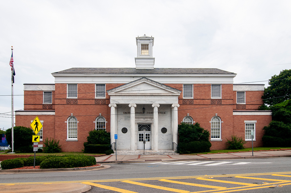 The post office in downtown Milledgeville, Georgia on Sunday, July 18, 2021. Copyright 2021 Jason Barnette
