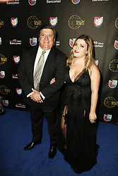LOS ANGELES, CA - JULY 15: Miguel Herra and wife attend Univision Deportes' Balon De Oro 2017 Awards at The Orpheum Theatre in Los Angeles, California on July 15, 2017 in Los Angeles, California. Byline, credit, TV usage, web usage or linkback must read SILVEXPHOTO.COM. Failure to byline correctly will incur double the agreed fee. Tel: +1 714 504 6870.
