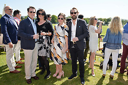 Left to right, NICK MORAN, JASMINE DURAN, CLAIRE LANCASTER and JOSEPH MAWLE at the St.Regis International Polo Cup at Cowdray Park, Midhurst, West Sussex on 16th May 2015.