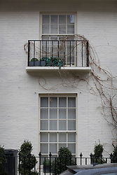 © Licensed to London News Pictures. 05/02/2017. London, UK. Windows and blinds remain closed at a property in west London that is being reported as belonging to former UKIP leader Nigel Farage. French politician Laure Ferrari has also been staying at the £4 million house. Photo credit: Peter Macdiarmid/LNP
