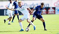Fotball , 1. august 2015 ,   Eliteserien , Tippeligaen <br /> Stabæk - Vålerenga<br /> Yassine El Ghanassy, Stabæk<br /> Herman Stengel , VIF