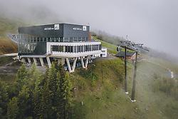 THEMENBILD - Bergstation der MK Maiskogel und Talstation der 3K K-onnection im Nebel, aufgenommen am 10. Juni 2020 in Kaprun, Österreich // Top station of the MK Maiskogel and bottom station of the 3K K-onnection in the fog, Kaprun, Austria on 2020/06/10. EXPA Pictures © 2020, PhotoCredit: EXPA/ JFK
