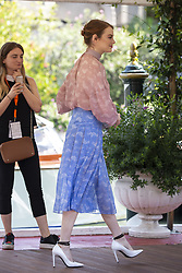 Emma Stone arrives to the Excelsior Hotel pier during the 75th Venice International Film Festival (Mostra) in Lido in Venice, Italy on August 30, 2018. Photo by Marco Piovanotto/ABACAPRESS.COM