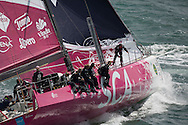 The 2013 Rolex Fastnet race start. <br /> <br /> Pictures off the SCA Volvo70 race team. Shown here as they race down the Solent and past the Needles <br /> <br /> Credit: Lloyd Images