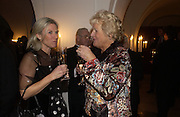 Michelle Leveridge and Valerie Brake. The Leader's Dinner ( Michael Howard's ) Banqueting House. Whitehall. London.  November 2005. ONE TIME USE ONLY - DO NOT ARCHIVE  © Copyright Photograph by Dafydd Jones 66 Stockwell Park Rd. London SW9 0DA Tel 020 7733 0108 www.dafjones.com
