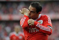 20120421: LISBON, PORTUGAL – Portuguese Liga Zon Sagres 2011/2012 - SL Benfica VS Maritimo<br />In picture: Benfica's Bruno Cesar, from Brazil, celebrates after scoring their 4th goal against Maritimo.<br />PHOTO: Alvaro Isidoro/CITYFILES