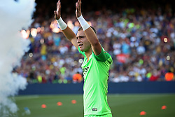 August 15, 2018 - Barcelona, Spain - Jasper Cillessen during the presentation of the team 2018-19 before the match between FC Barcelona and C.A. Boca Juniors, corresponding to the Joan Gamper trophy, played at the Camp Nou, on 15th August, 2018, in Barcelona, Spain. (Credit Image: © Joan Valls/NurPhoto via ZUMA Press)