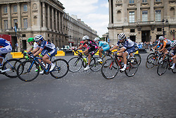 With two laps to go, the race came back together during the La Course, a 89 km road race in Paris on July 24, 2016 in France.