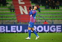Deception Mathieu DUHAMEL - 05.12.2014 - Caen / Nice - 17eme journee de Ligue 1 -<br />Photo : Dave Winter / Icon Sport