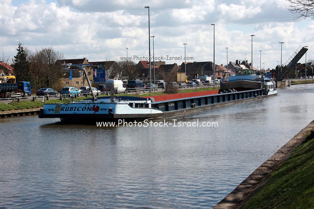 Belgium, Bruges, River Barge