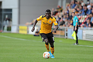 Seth Nana Twumasi of Newport county in action. Skybet football league two match, Newport county v York city at Rodney Parade in Newport, South Wales on Saturday 5th Sept 2015.  pic by Andrew Orchard, Andrew Orchard sports photography.