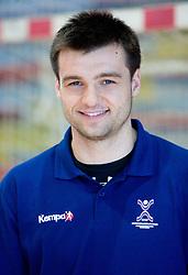 Portrait of Klemen Cehte of Slovenian Handball Men National Team, on June 4, 2009, in Arena Kodeljevo, Ljubljana, Slovenia. (Photo by Vid Ponikvar / Sportida)