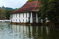 Bath House of Sri Dalada Maligawa or The Temple of the Sacred Tooth on Kandy Lake -  Since ancient times the relic has played an important role in local politics because it is believed that whoever holds the tooth relic governs the country. Kandy is a UNESCO world heritage site partly due to the its famous temple.