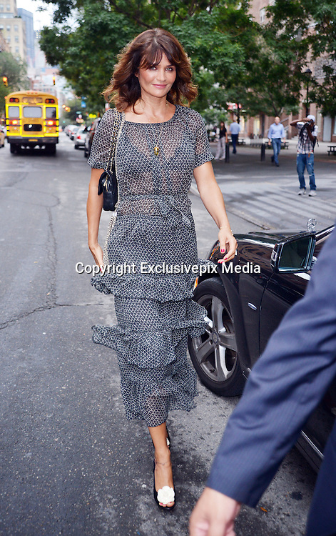 Sept. 10, 2015 - New York City, NY, USA - <br /> <br /> Model Helena Christensen leaves a downtown hotel on September 10 2015 in New York City<br /> <br /> ©Exclusivepix Media