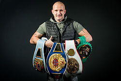 Rudolf Pavlin, coach of Ema Kozin alias The Princess, Slovenian middleweight boxer, at photo session in a gym, on January 5, 2018 in FIT 13, Ljubljana, Slovenia. Photo by Vid Ponikvar / Sportida
