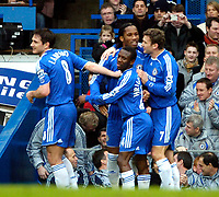 Photo: Ed Godden/Sportsbeat Images.<br /> Chelsea v Nottingham Forest. The FA Cup. 28/01/2007.<br /> Chelsea's Didier Drogba celebrates after scoring to make it 2-0.